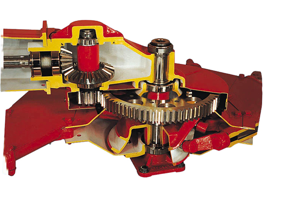 MASTER DRIVE gearbox with spur-gear drive of the rotor gearwheels